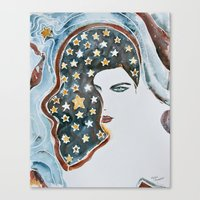 american beauty Canvas Prints featuring American Beauty by Mona Mansour Jandali