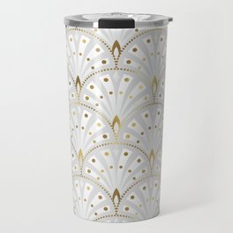 marble and gold art deco scales pattern Travel Mug