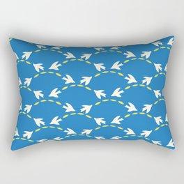 Geometrical Matisse's birds Rectangular Pillow