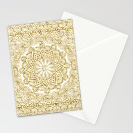 Orient Espresso Pattern Mandala Gold Stationery Cards