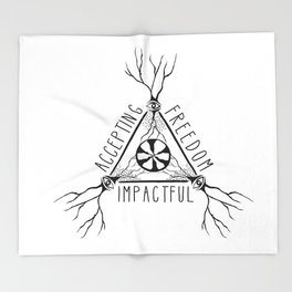 ACCEPTING - FREEDOM - IMPACTFUL Throw Blanket