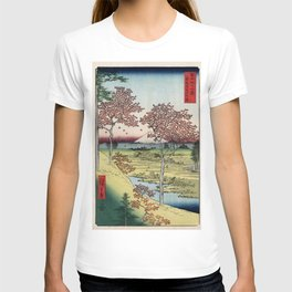 Hiroshige - 36 Views of Mount Fuji (1858) - 10: Twilight Hill at Meguro in the Eastern Capital T-shirt