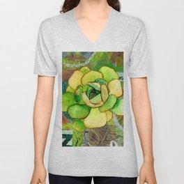 Pietra Rosetta Succulent Garden Unisex V-Neck