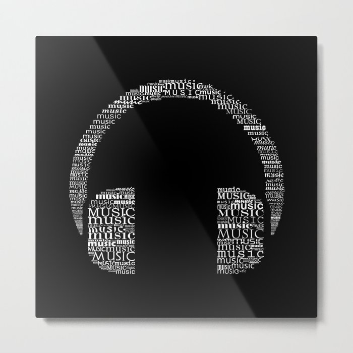 Headphone Metal Print