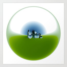 circular images on white -1- Art Print