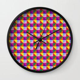 Eight Triangles Pixel Wall Clock