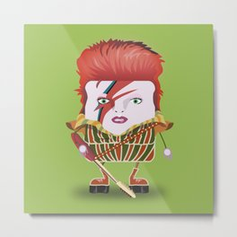David Bowie - Funny Cubes Series Metal Print