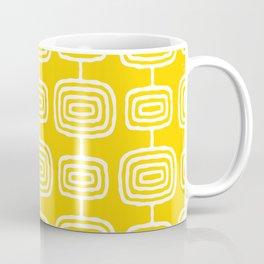 Mid Century Modern Atomic Rings Pattern Yellow Coffee Mug