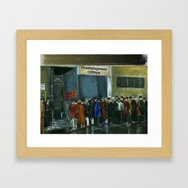 Unemployment Benefits Framed Art Print