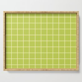 Grid Pattern Chartreuse and Yellow 2 Serving Tray