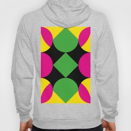 A green square being touched by two half-circles, surrounded by a Yellow Veil. Hoody