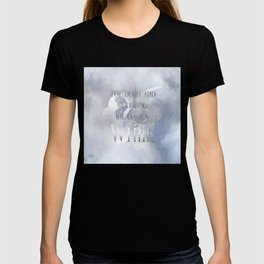For death and mourning the color's WHITE. Shadowhunter Children's Rhyme. T-shirt