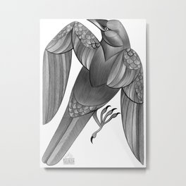 Corvus Corax Metal Print