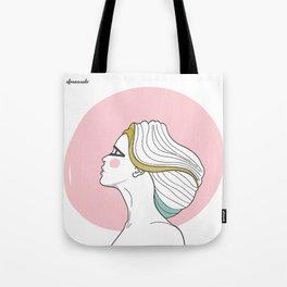 Profile Girl Tote Bag