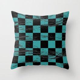 Retro Plaid Pattern Throw Pillow