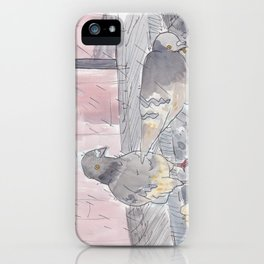 Portland Pigeons - Big Pink iPhone Case