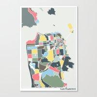 san francisco Canvas Prints featuring San Francisco. by Studio Tesouro