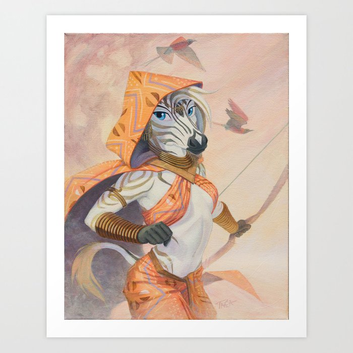 African Ranger Art Print