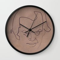 quibe Wall Clocks featuring One line Shining by quibe