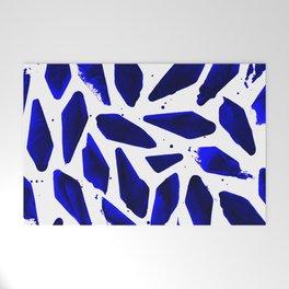 Cobalt Blue Ink Blots Welcome Mat