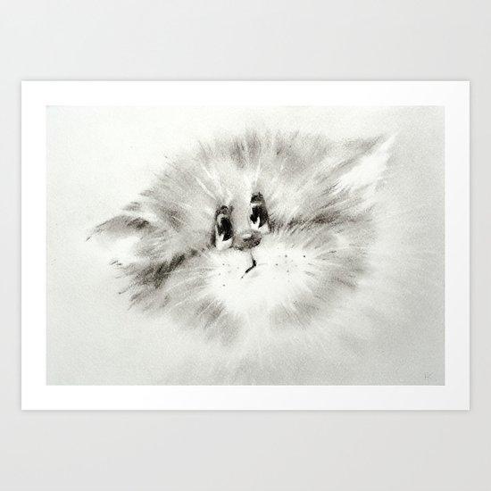 Surprised kitty Art Print