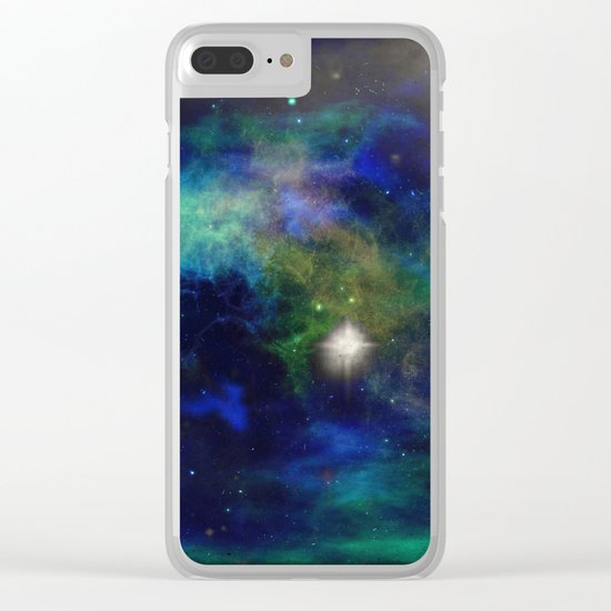 Stars and Waves Clear iPhone Case