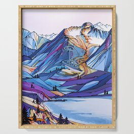 Alyeska Allure Colorful Mountains Serving Tray