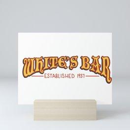 White's Bar Logo Mini Art Print