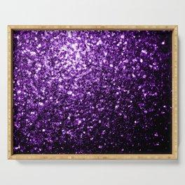Beautiful Dark Purple glitter sparkles Serving Tray
