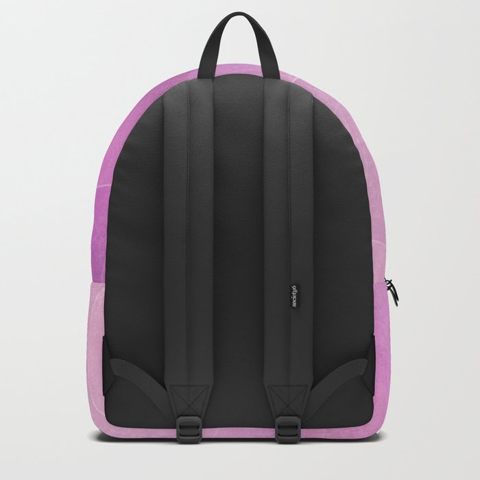 pink abstract circles background Backpack