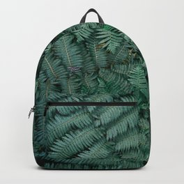 Green tropical Fern leaves | Botanical fine art photography print | Forest style Backpack