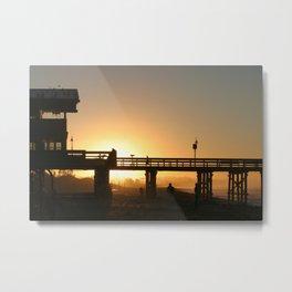 Sunrise Pier Ventura Metal Print