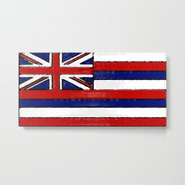 Fancy Flag: Hawaii Metal Print