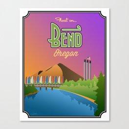 Landmarks of Life: Bend, Oregon Canvas Print