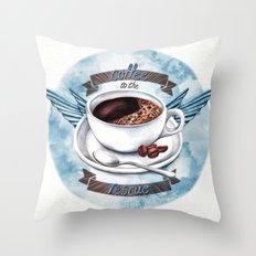 Coffee To The Rescue Throw Pillow