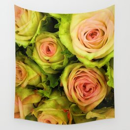 Green & Pink Bouquet Wall Tapestry