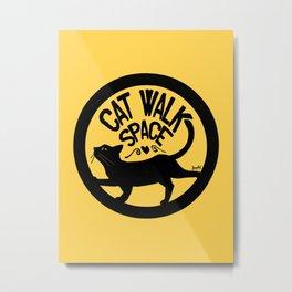 Cat walk space Metal Print