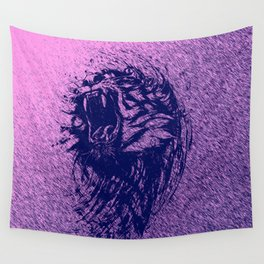 Tiger Purple Wall Tapestry