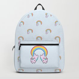 Kawaii proud rainbow cattycorn pattern Backpack