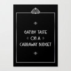 Gatsby Style Canvas Print