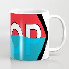 Polar Bear Stop Sign Coffee Mug