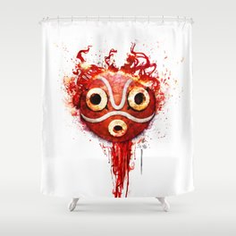 princess mononoke mask  Shower Curtain