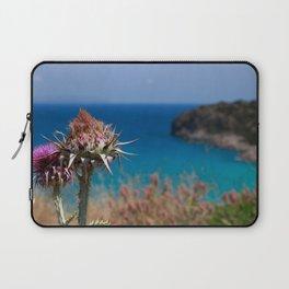 CretanThistle And Sea Laptop Sleeve