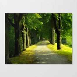 Summer Lane Canvas Print