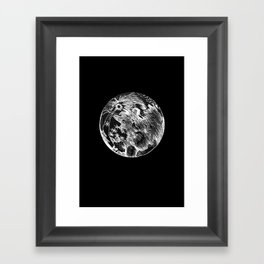 moon large Framed Art Print