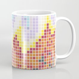 Pixelated Nebula Red Coffee Mug
