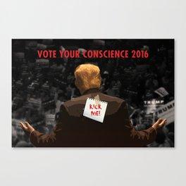 Kicking The Trump. Canvas Print