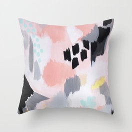 Serene Abstract  Throw Pillow