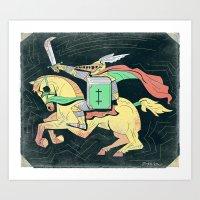 A Knight of Literacy Art Print