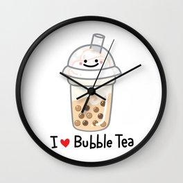 I LOVE BUBBLE TEA Wall Clock